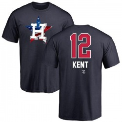 Men's Jeff Kent Houston Astros Name and Number Banner Wave T-Shirt - Navy